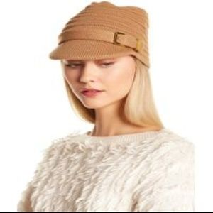 Michael Kors Beanie Cap Hat with Gold Buckle